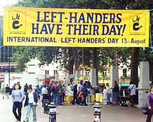 Left Handers Day in London