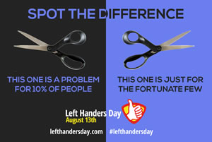 Spot the difference - left-handed scissors