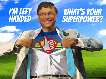 Bill Gates Left Handed