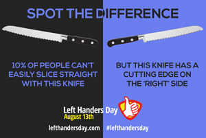 Spot the difference - left-handed knives