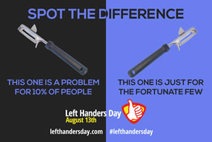 Spot the difference - left-handed peelers
